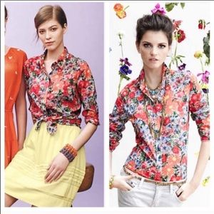 Anthropologie hd in Paris floral button up top 4